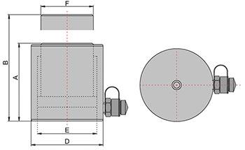Домкрат алюминиевый гидравлический с пружинным возвратом штока схема