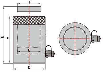 Домкрат гидравлический с фиксирующей гайкой схема